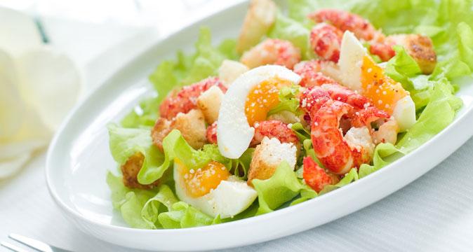 Вкусный салат с креветками и яйцом рецепты с